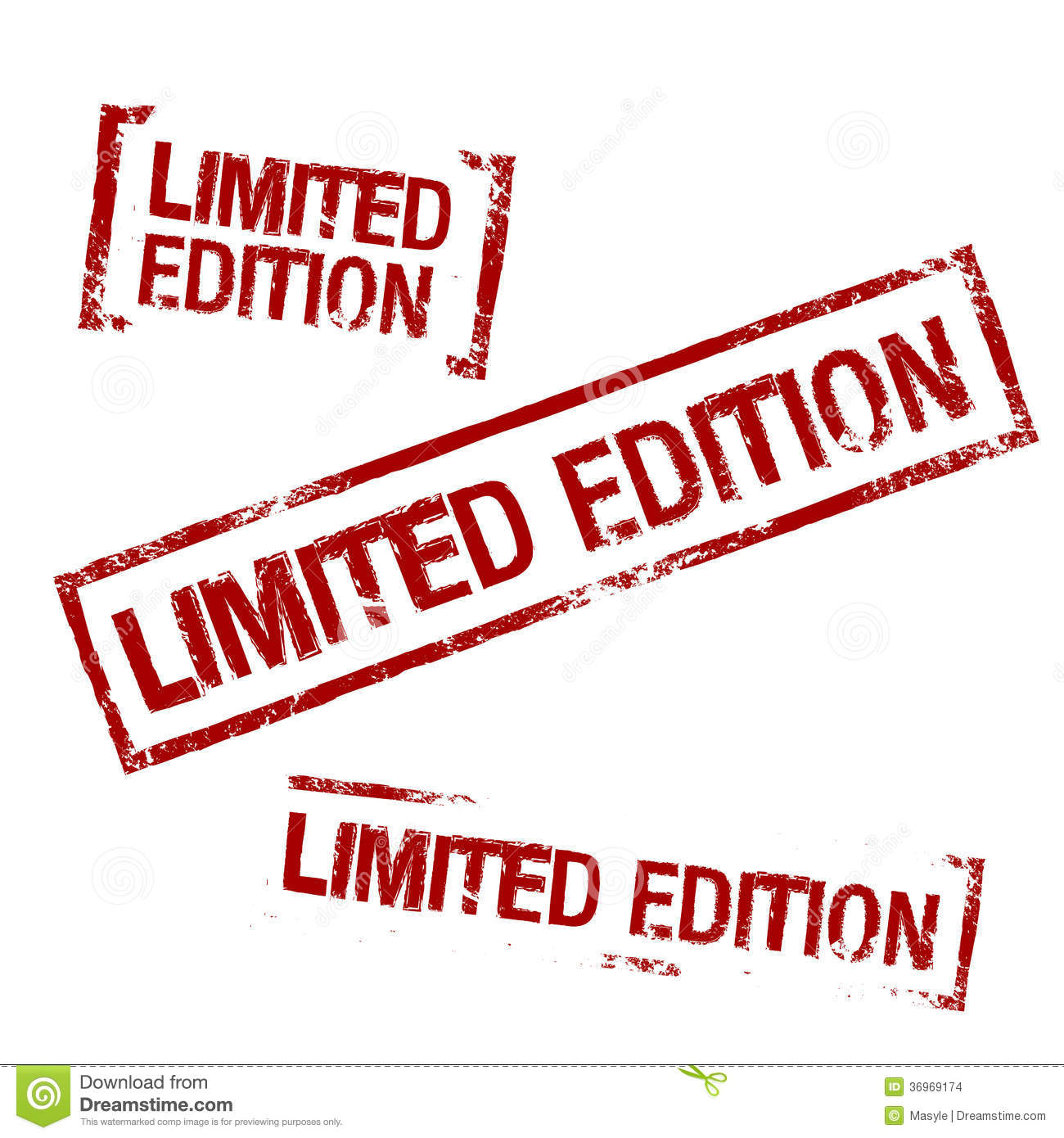 Limited Edition Vector Stamp Stock Images  Image 36969174