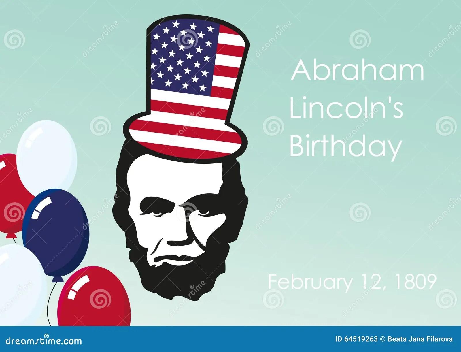 Lincoln S Birthday Stock Illustration Illustration Of