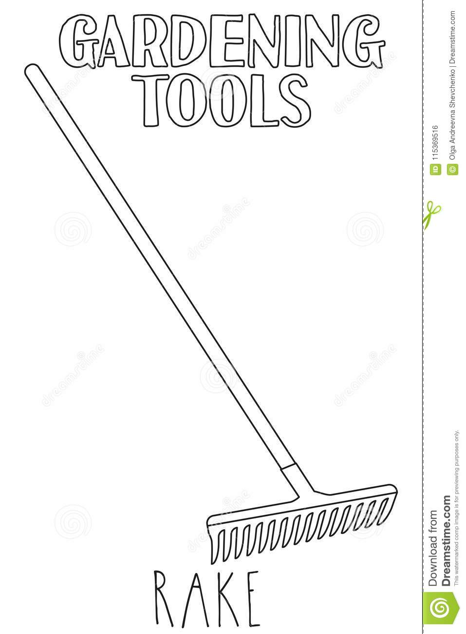 Rake Coloring Pages Sketch Coloring Page