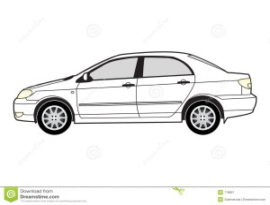 Line art  car stock vector Illustration of motor, sadan