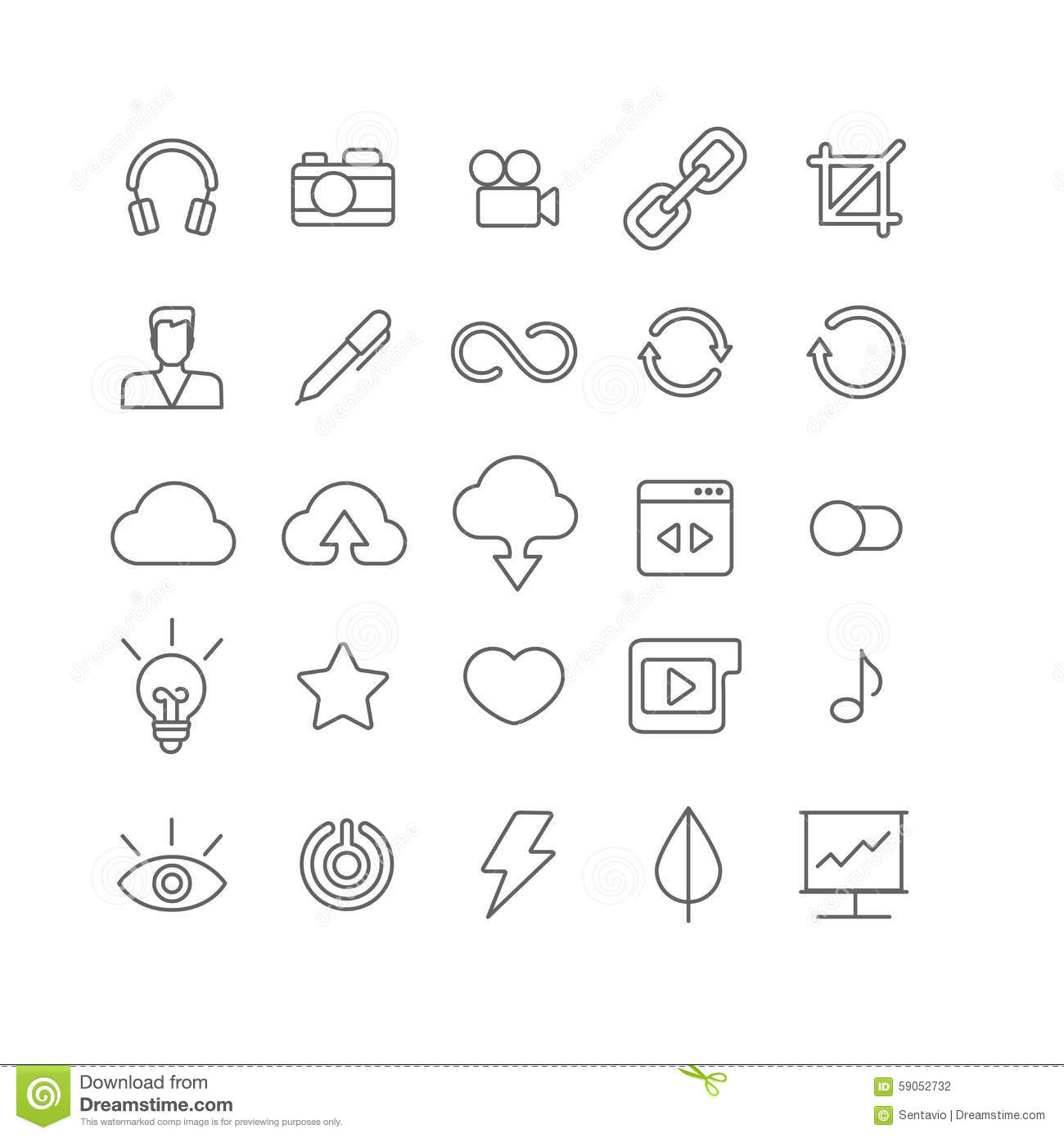 Line Art Vector Flat Graphical Set Of Mobile Interface App