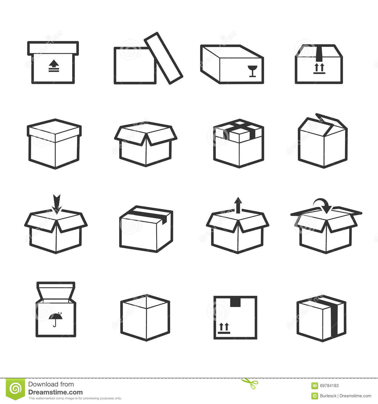 Vector Line Icons Of Fabric Feature Garments Property