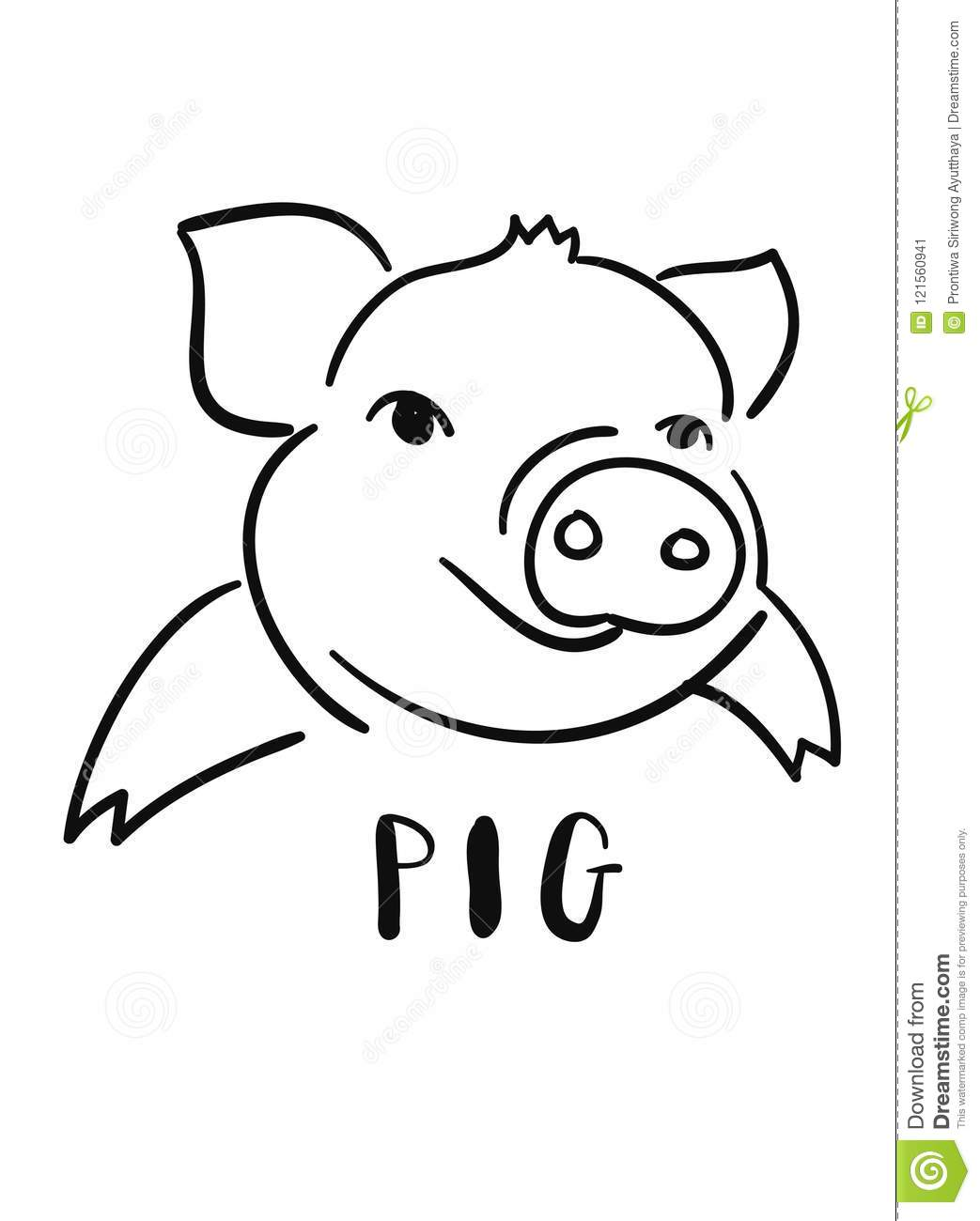 Cute Doodles A Pig