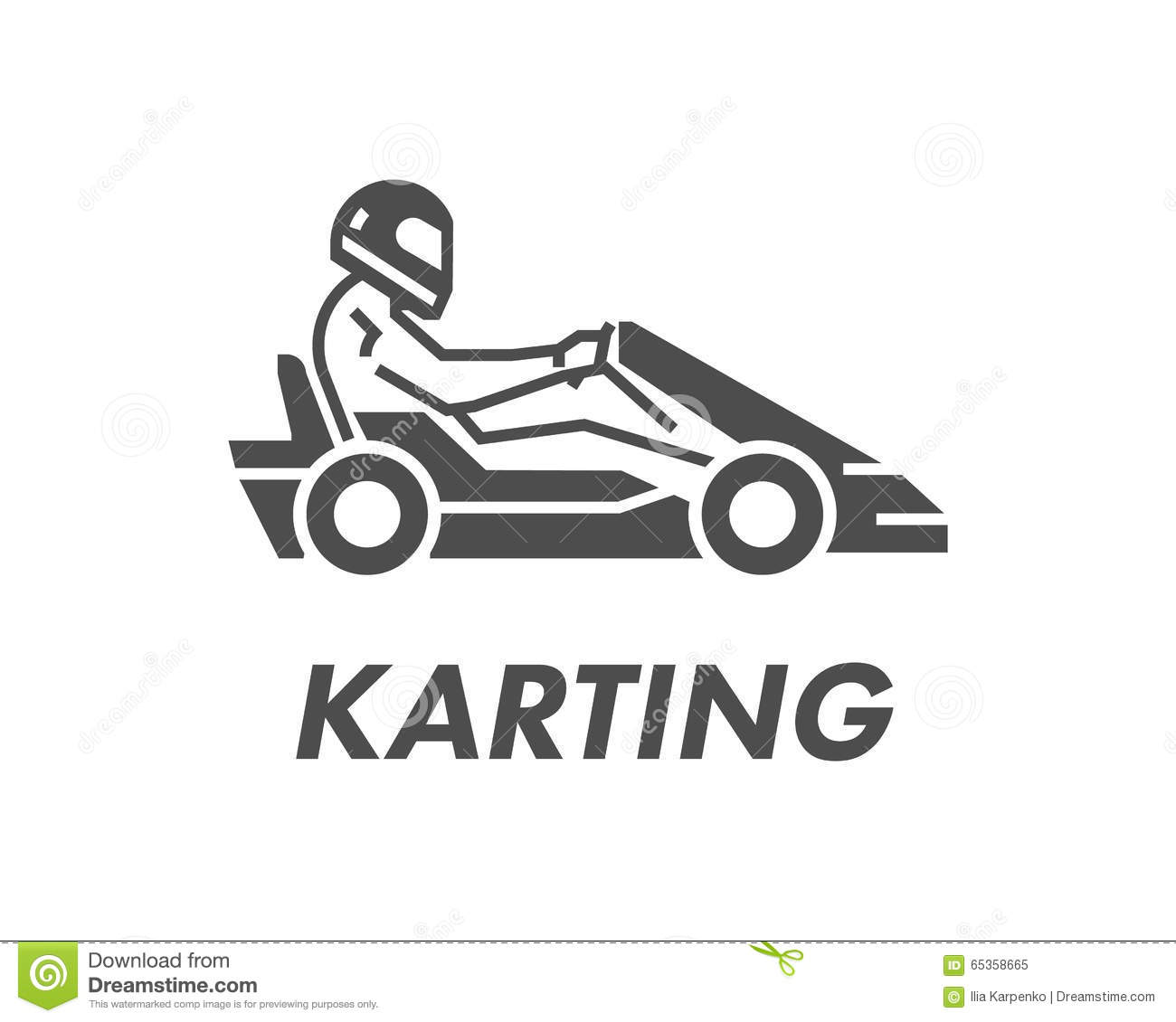 Line And Flat Karting Logo And Symbol Silhouette Figures