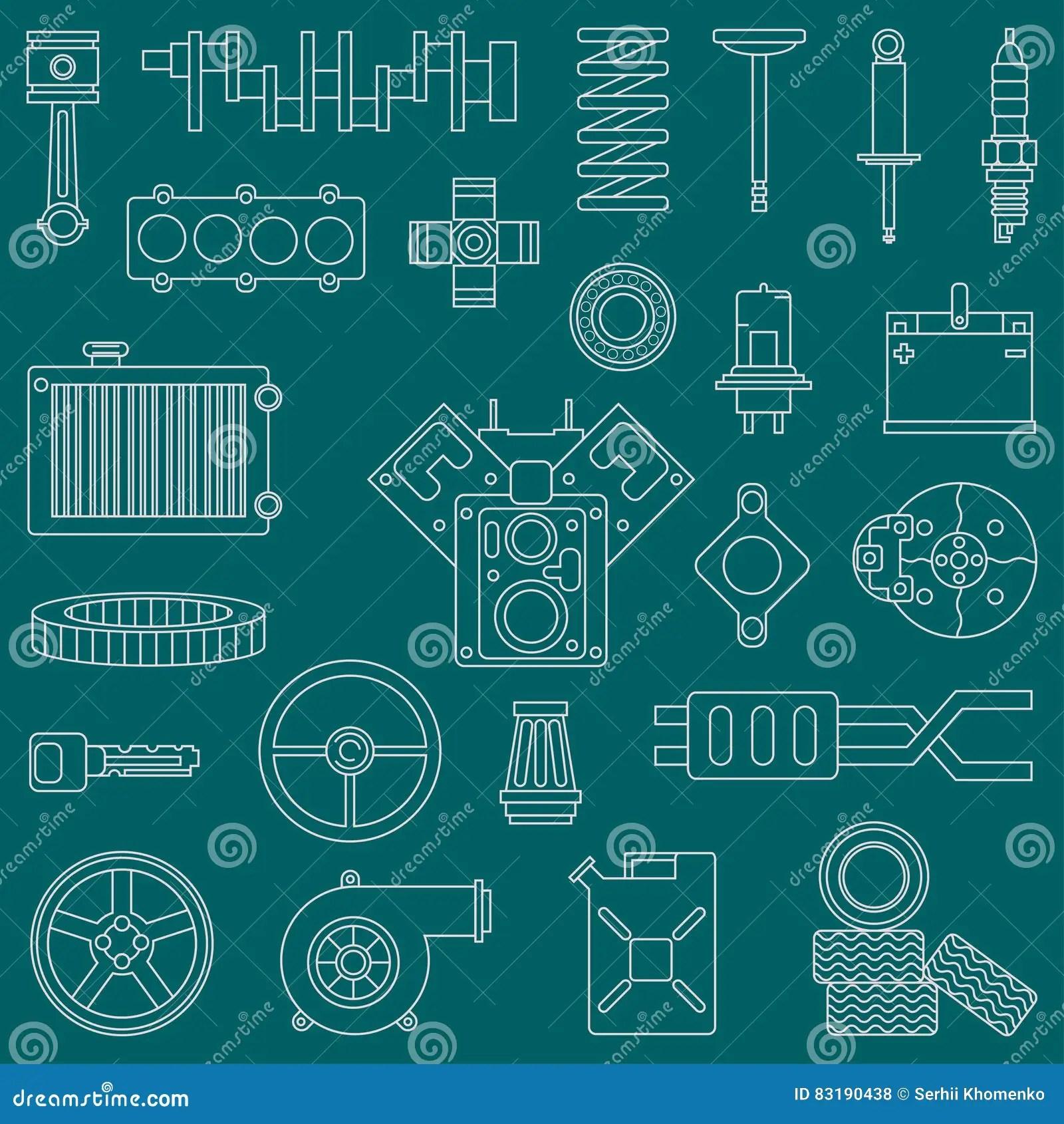 hight resolution of cartoon engine diagram