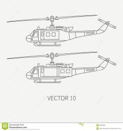 line flat vector icon set military turboprop transportation helicopter army equipment and armament retro [ 1300 x 1390 Pixel ]