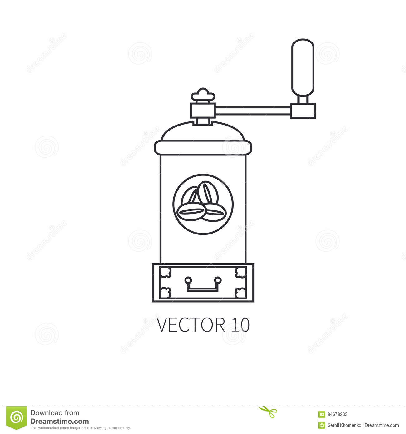 Coffee Grinder Icon, Cartoon Style Cartoon Vector