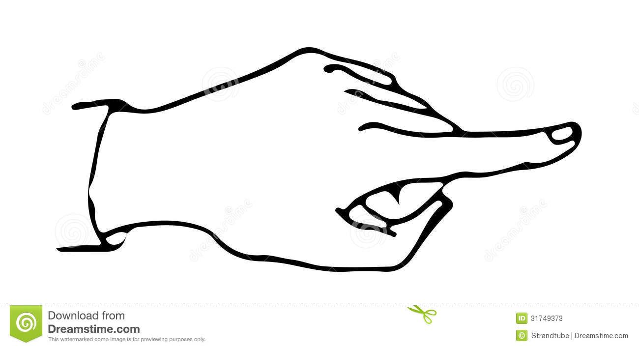 Line Illustration Of A Finger /Eps Stock Vector