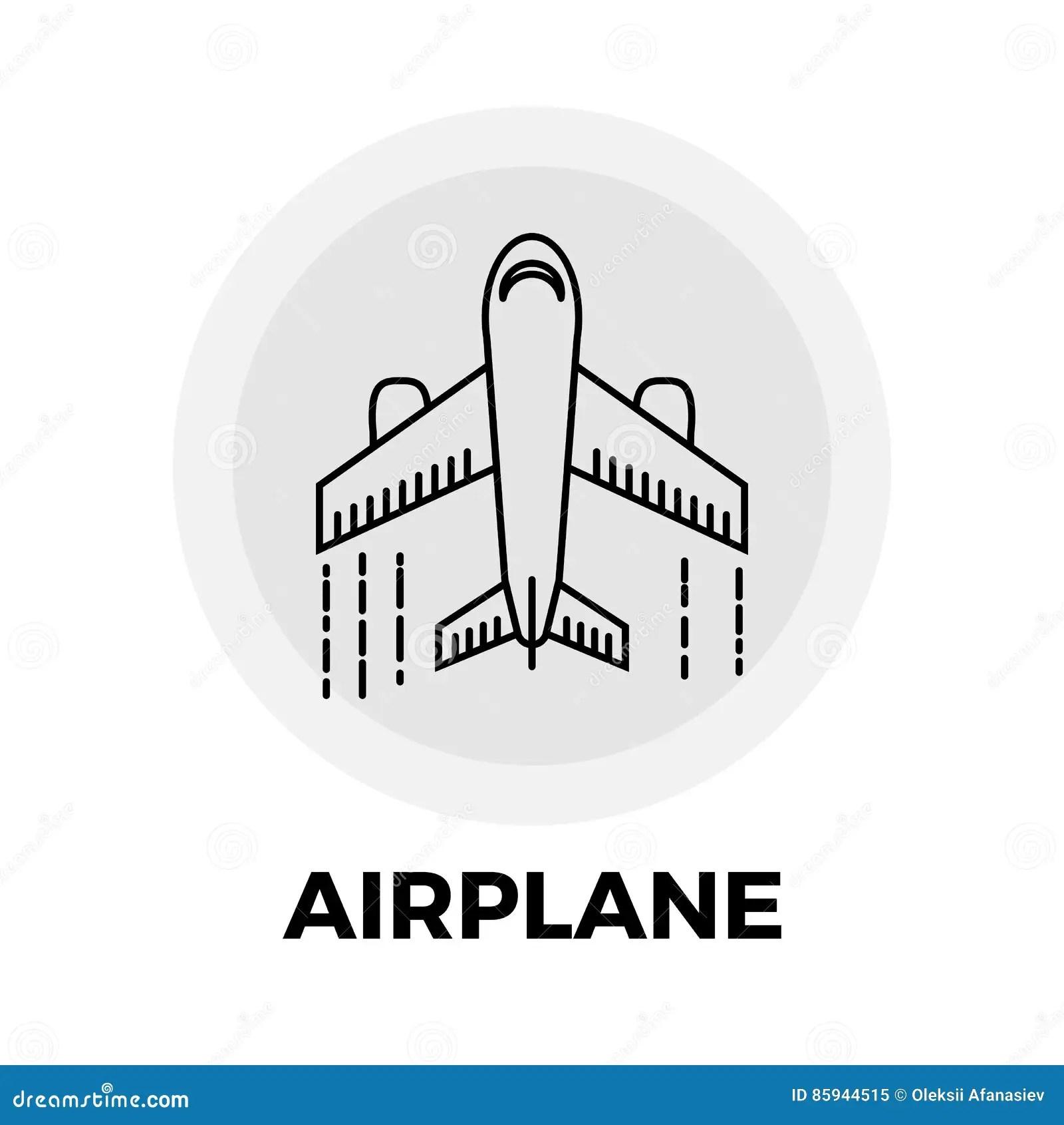 Linea Icona Dell Aeroplano Illustrazione Vettoriale