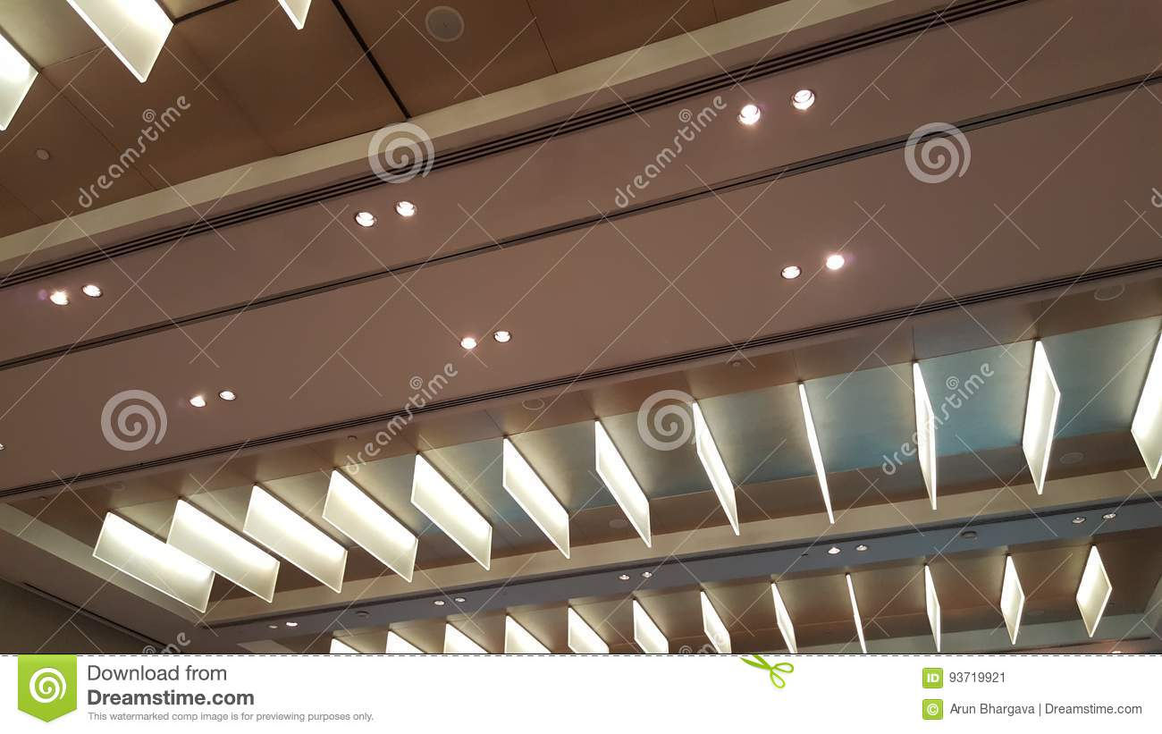 https www dreamstime com stock photo linear ceiling lighting panel modern system illuminating large halls low electric consumption systems image93719921