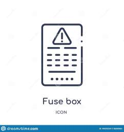 linear fuse box icon from electrian connections outline collection thin line fuse box vector isolated on white background fuse box trendy illustration [ 1600 x 1689 Pixel ]