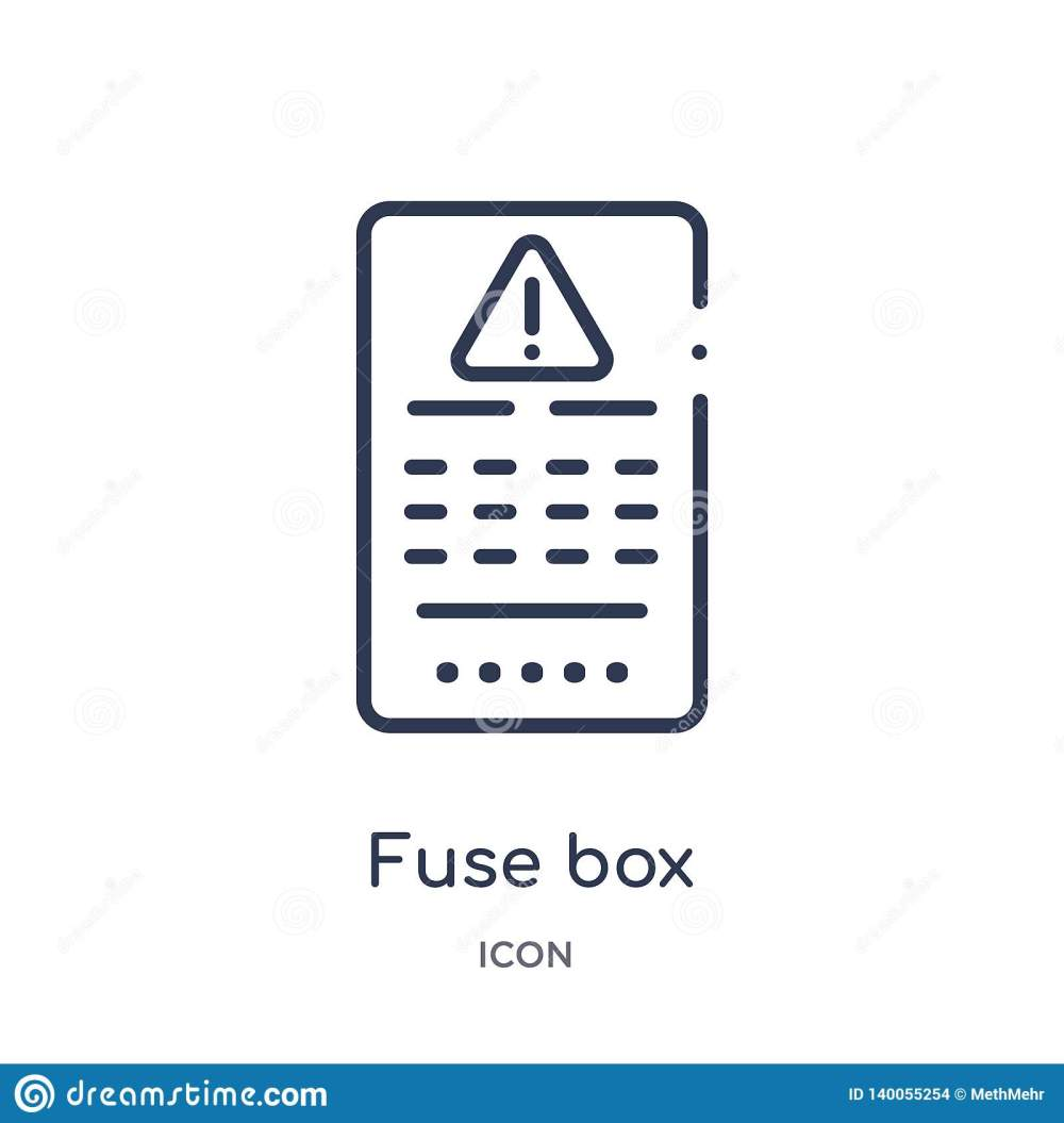 medium resolution of linear fuse box icon from electrian connections outline collection thin line fuse box vector isolated on white background fuse box trendy illustration
