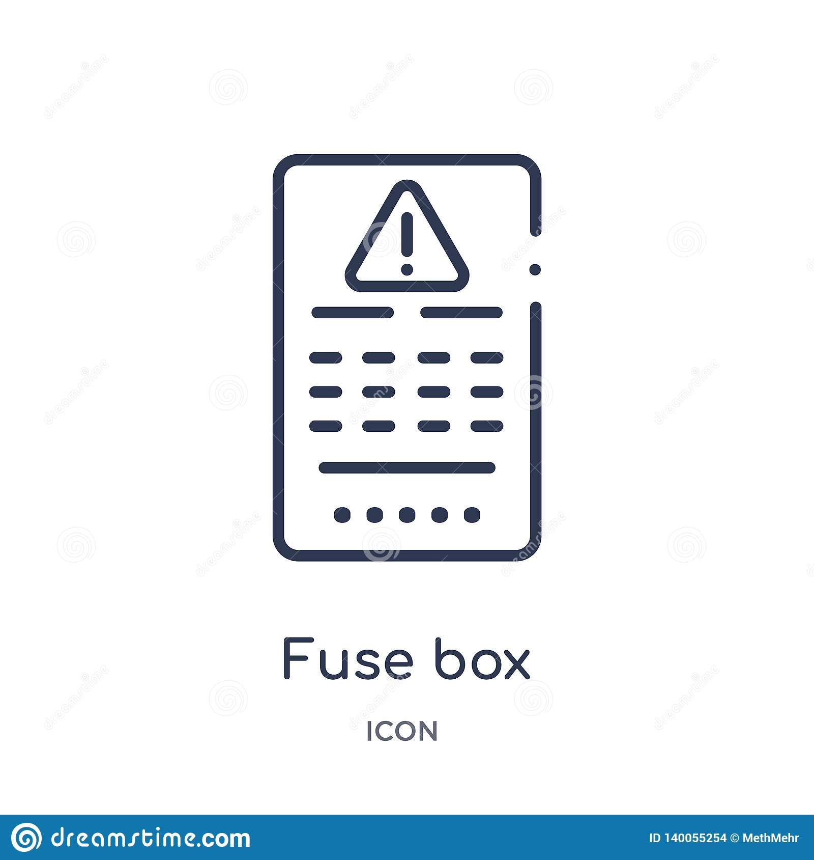 hight resolution of linear fuse box icon from electrian connections outline collection thin line fuse box vector isolated on white background fuse box trendy illustration
