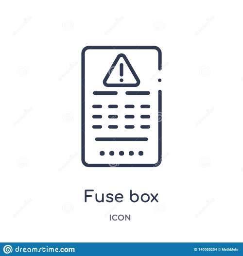small resolution of linear fuse box icon from electrian connections outline collection thin line fuse box vector isolated on white background fuse box trendy illustration