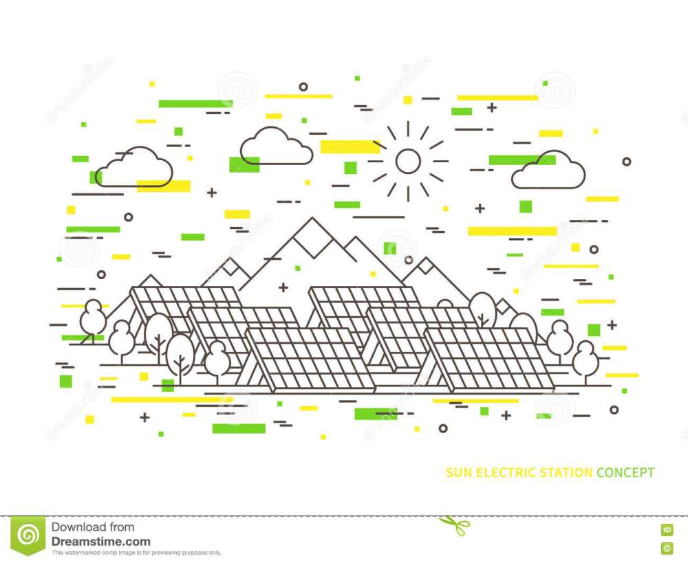 medium resolution of solar power engineering solar power plant creative concept solar electricity solar thermal power system solar cell panel graphic design