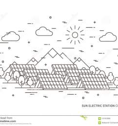 solar power engineering solar power plant solar plant creative concept solar electricity solar thermal power system solar cell panel graphic  [ 1300 x 1065 Pixel ]