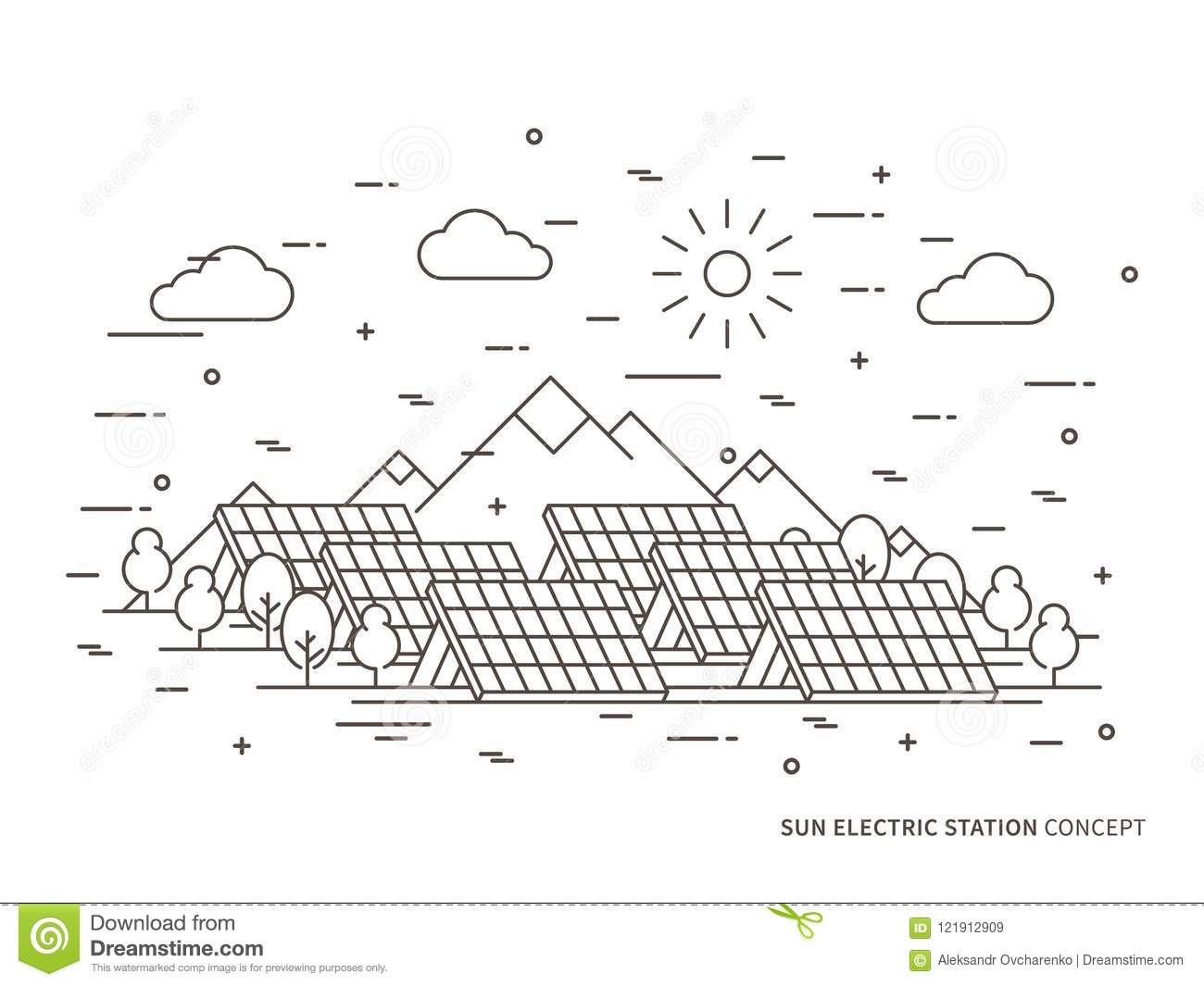 hight resolution of solar power engineering solar power plant solar plant creative concept solar electricity solar thermal power system solar cell panel graphic