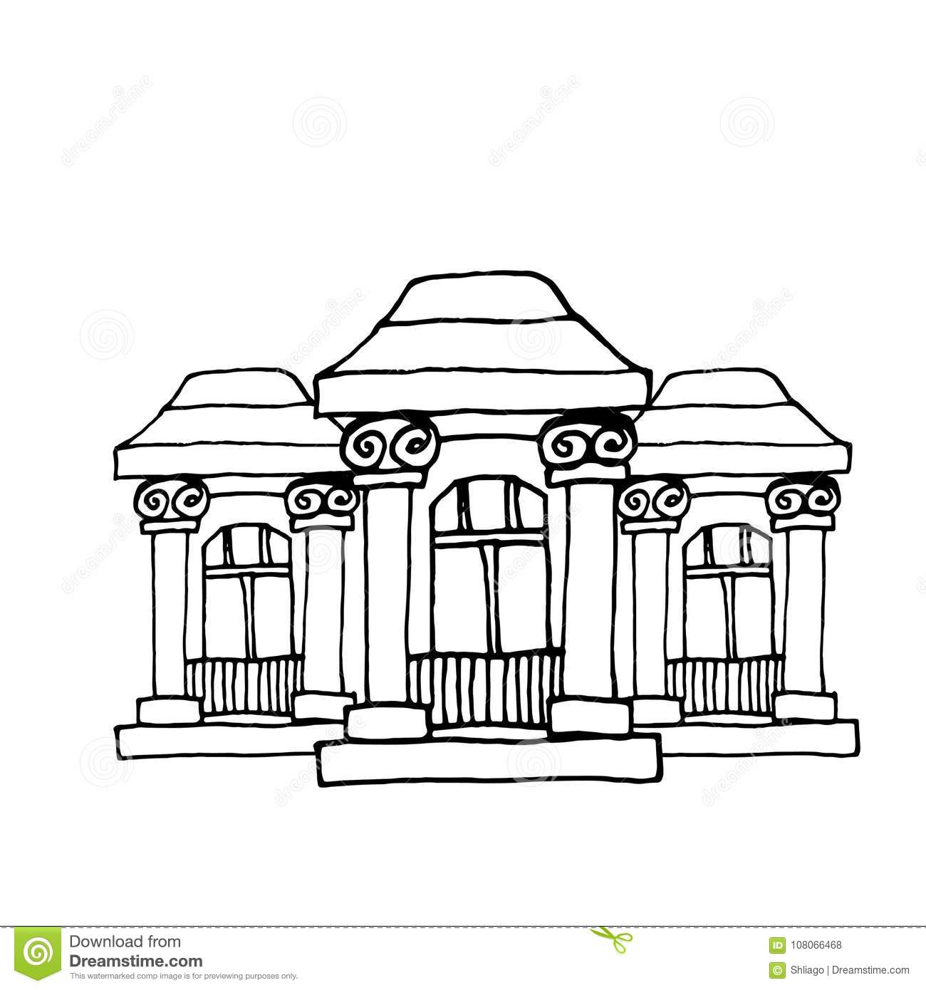 Victorian House Drawing Royalty Free Cartoon