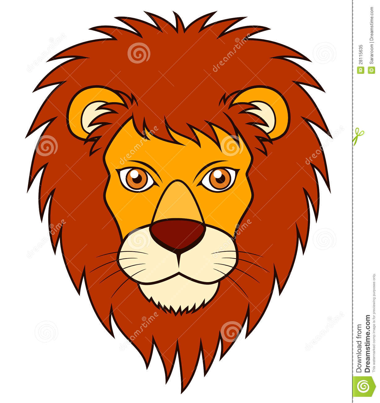 Lion Face Stock Vector Illustration Of Meow Green Lion