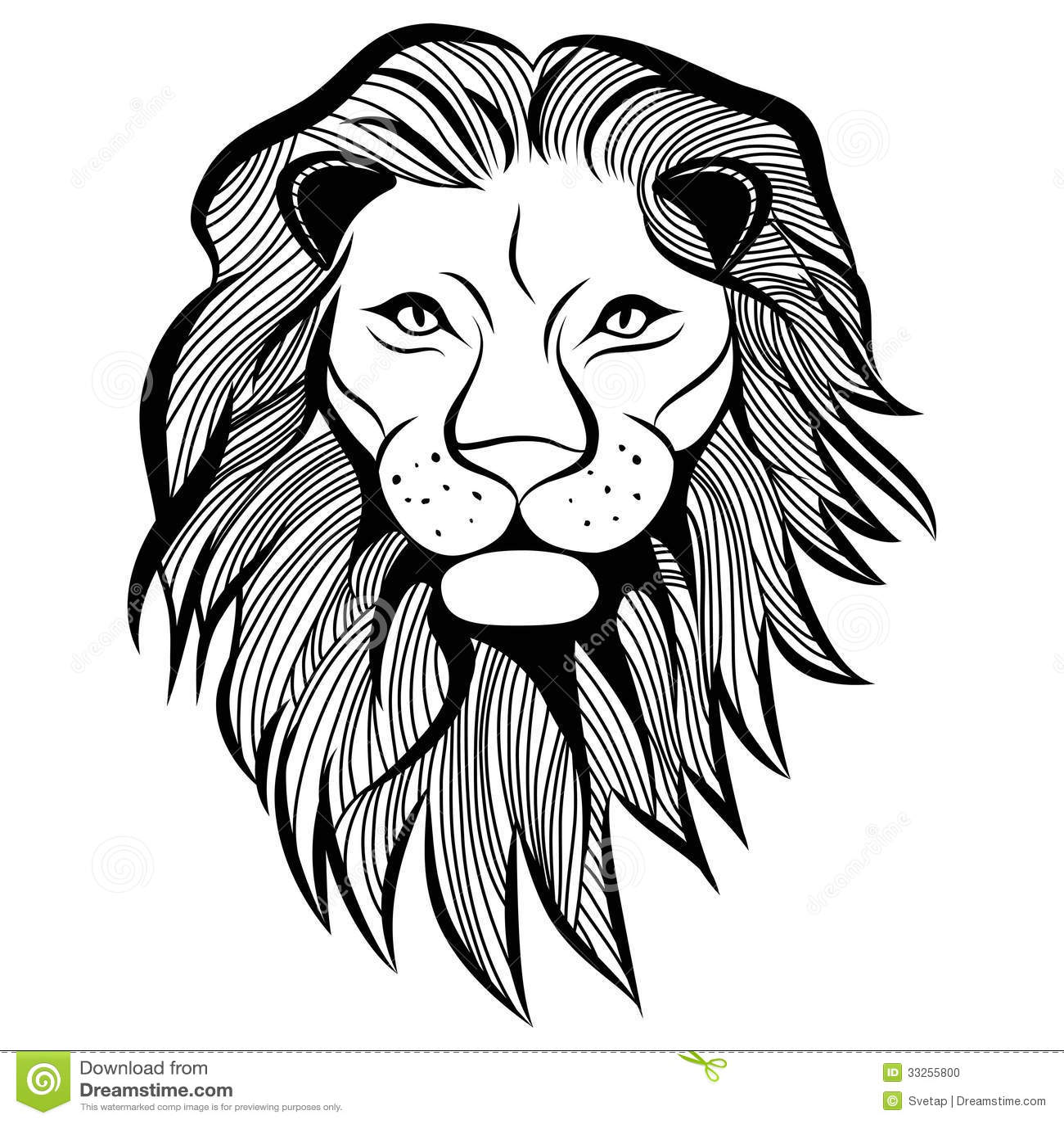 Lion Head Vector Animal Illustration For T Shirt Stock