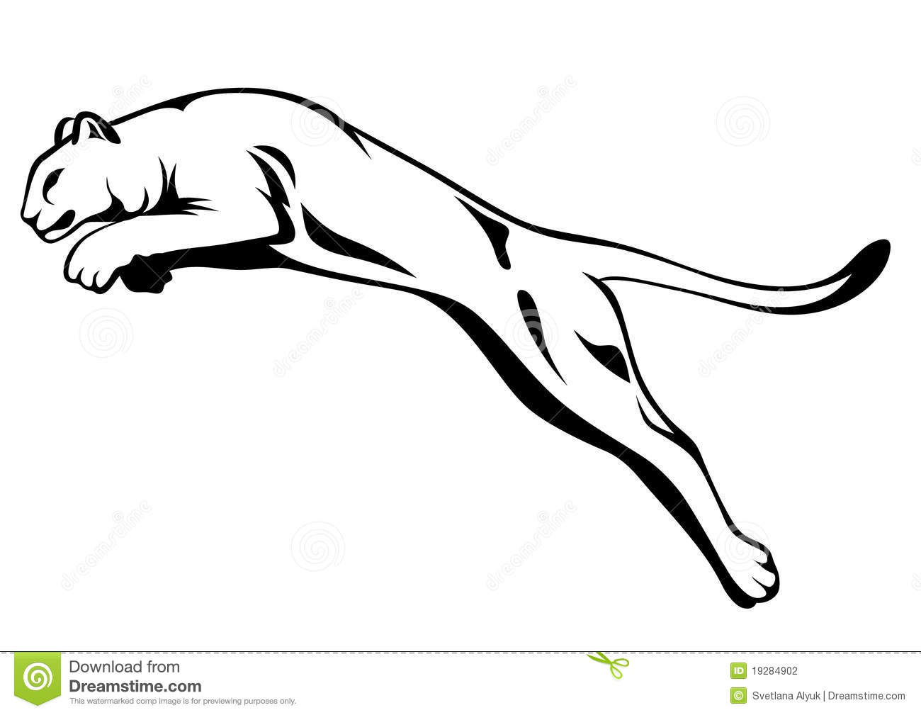 Lion Jumping Vector Stock Photography