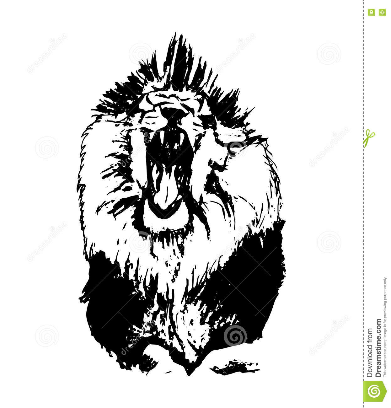Lion With Open Mouth Stock Vector