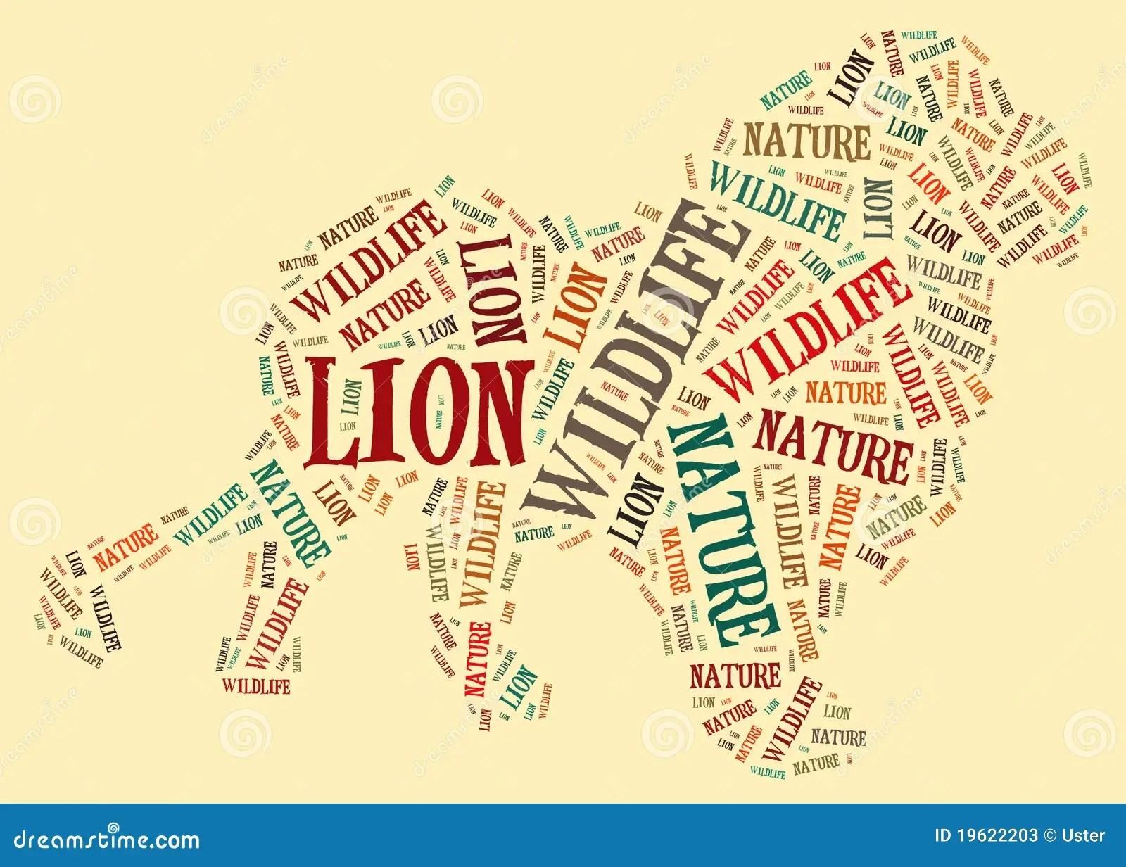 Lion Of Words Stock Illustration Illustration Of