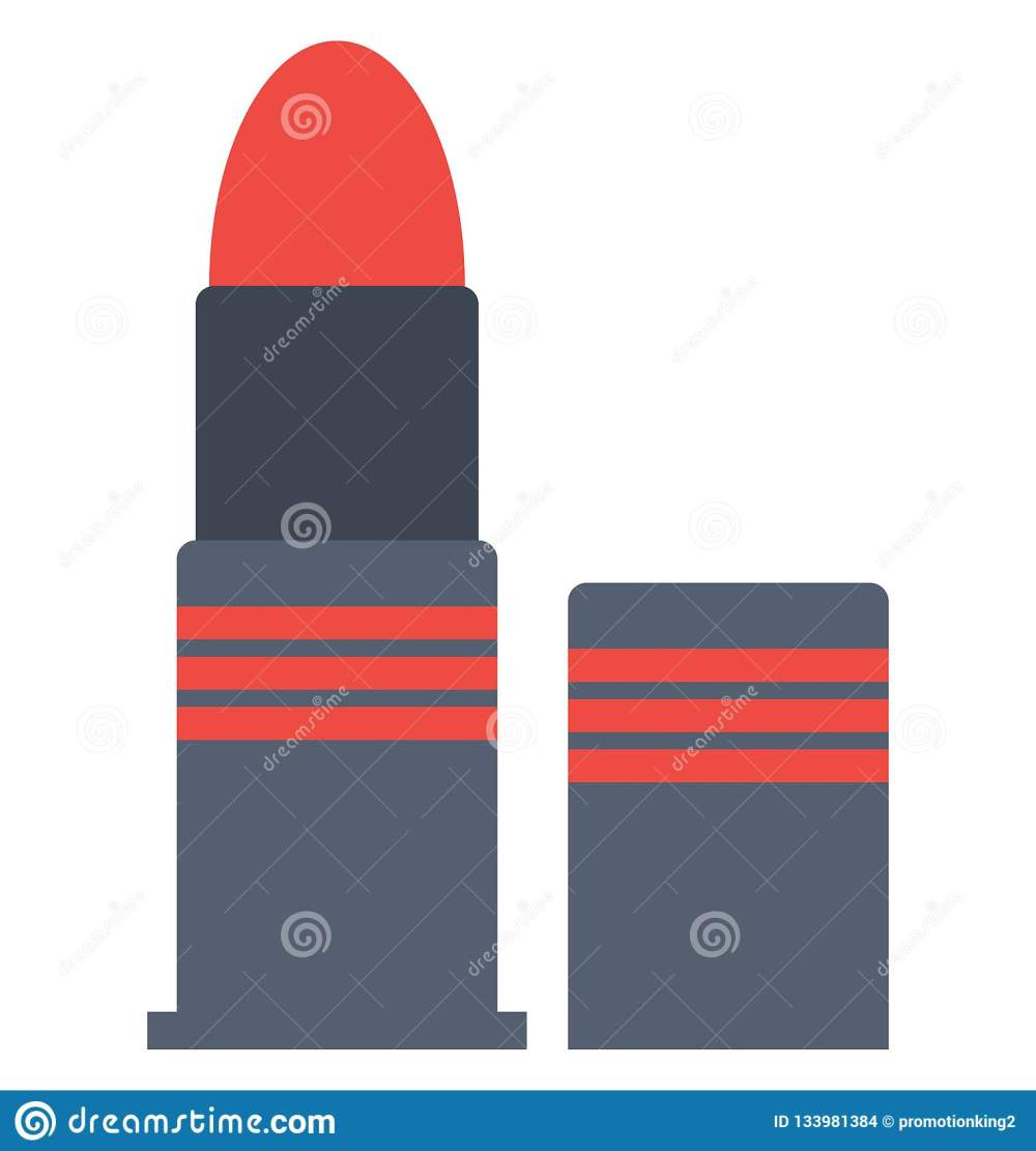 medium resolution of lipstick makeup vector icon that can be easily modified or edit