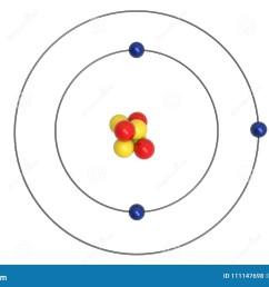 lithium atom bohr model with proton neutron and electron [ 1300 x 957 Pixel ]