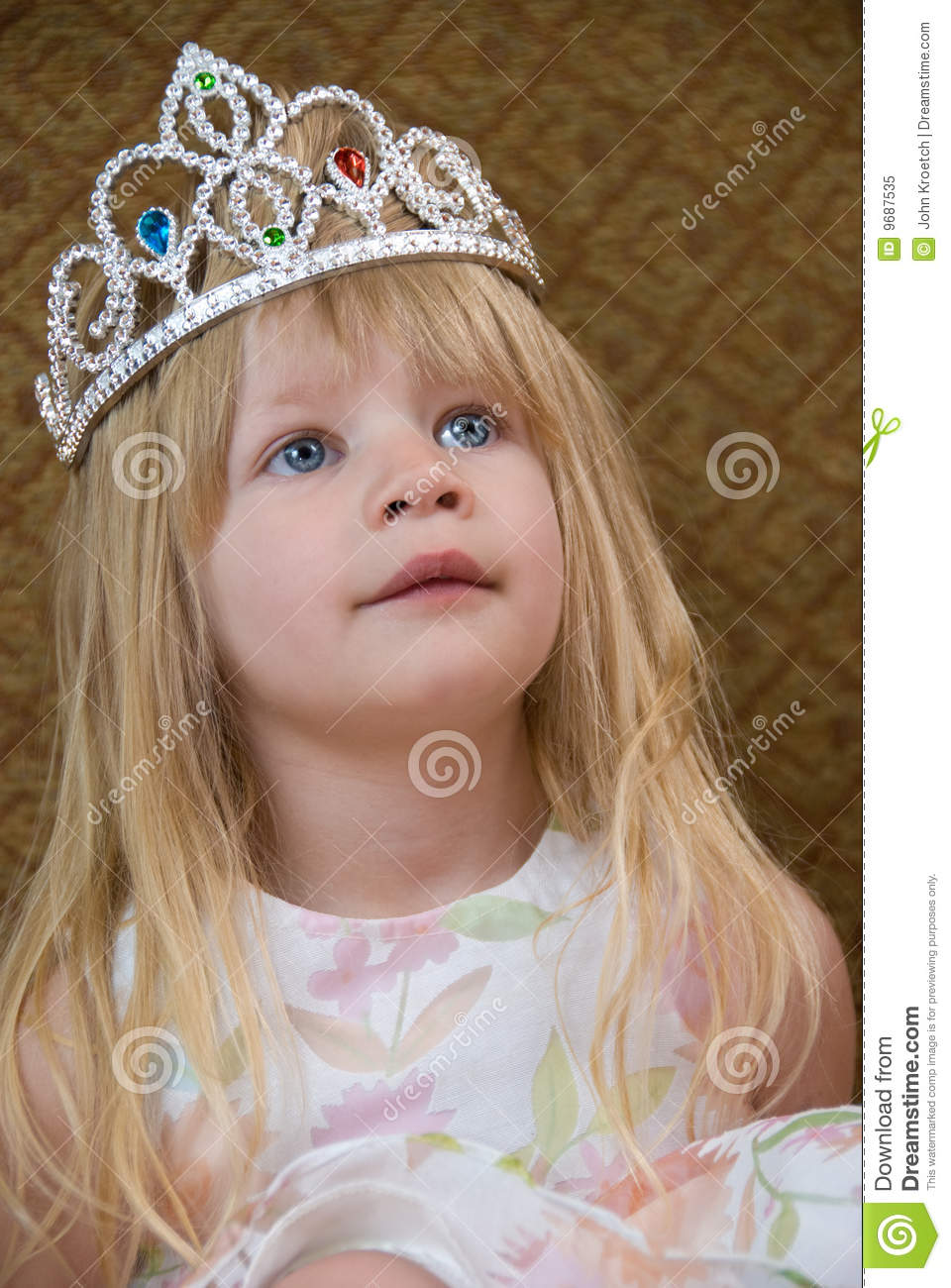 Little Blond Princess stock image Image of toddler smile