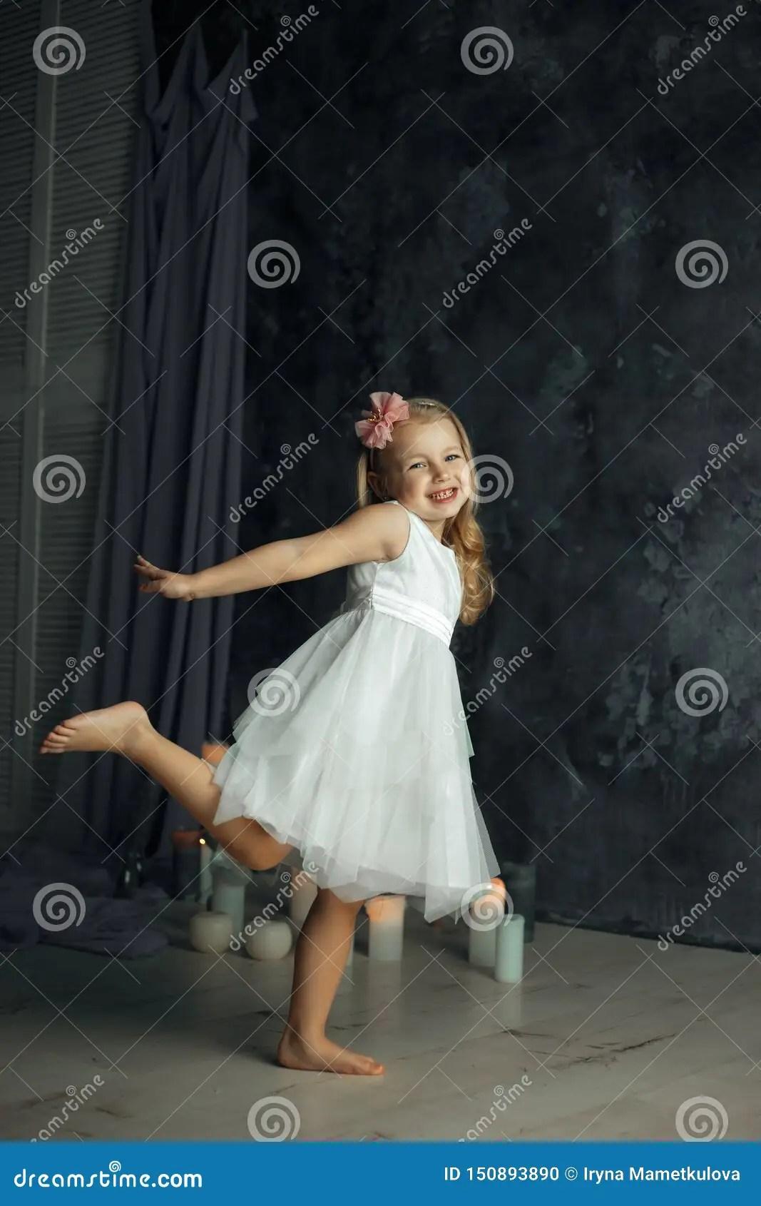 Little Blonde Girl Smiling Listening To Music On Royalty-Free Stock Image   CartoonDealer.com #35697838