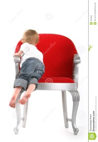 Little Boy In Big Red Chair Royalty Free Stock Images ...