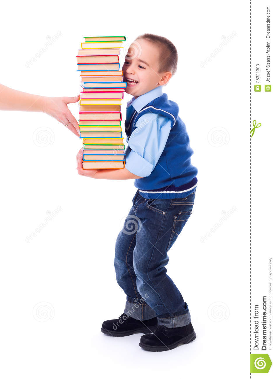 Lifting Stack Books