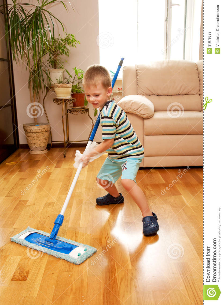 Little Boy Cleaning Apartment Little Home Helper Stock Photo  Image 31679388
