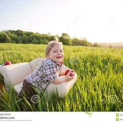 Little Boy Chairs Leather Chair Covers The Best Protection Sits In Stock Photo Image Of
