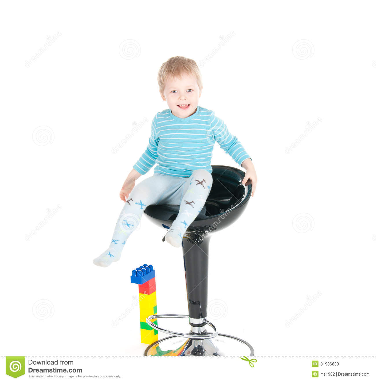 little boy chairs booster high chair sitting in a royalty free stock images