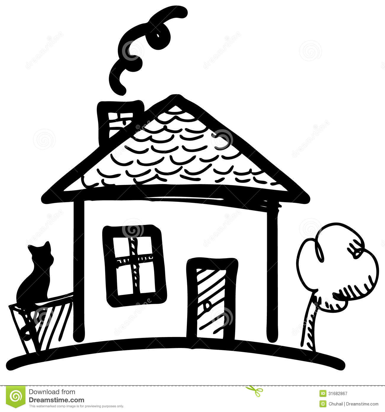 Little Cartoon House Royalty Free Stock Photography
