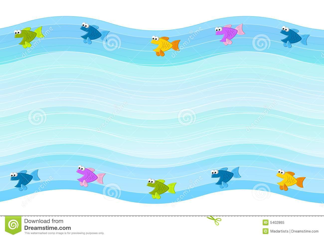 hight resolution of little fish border background