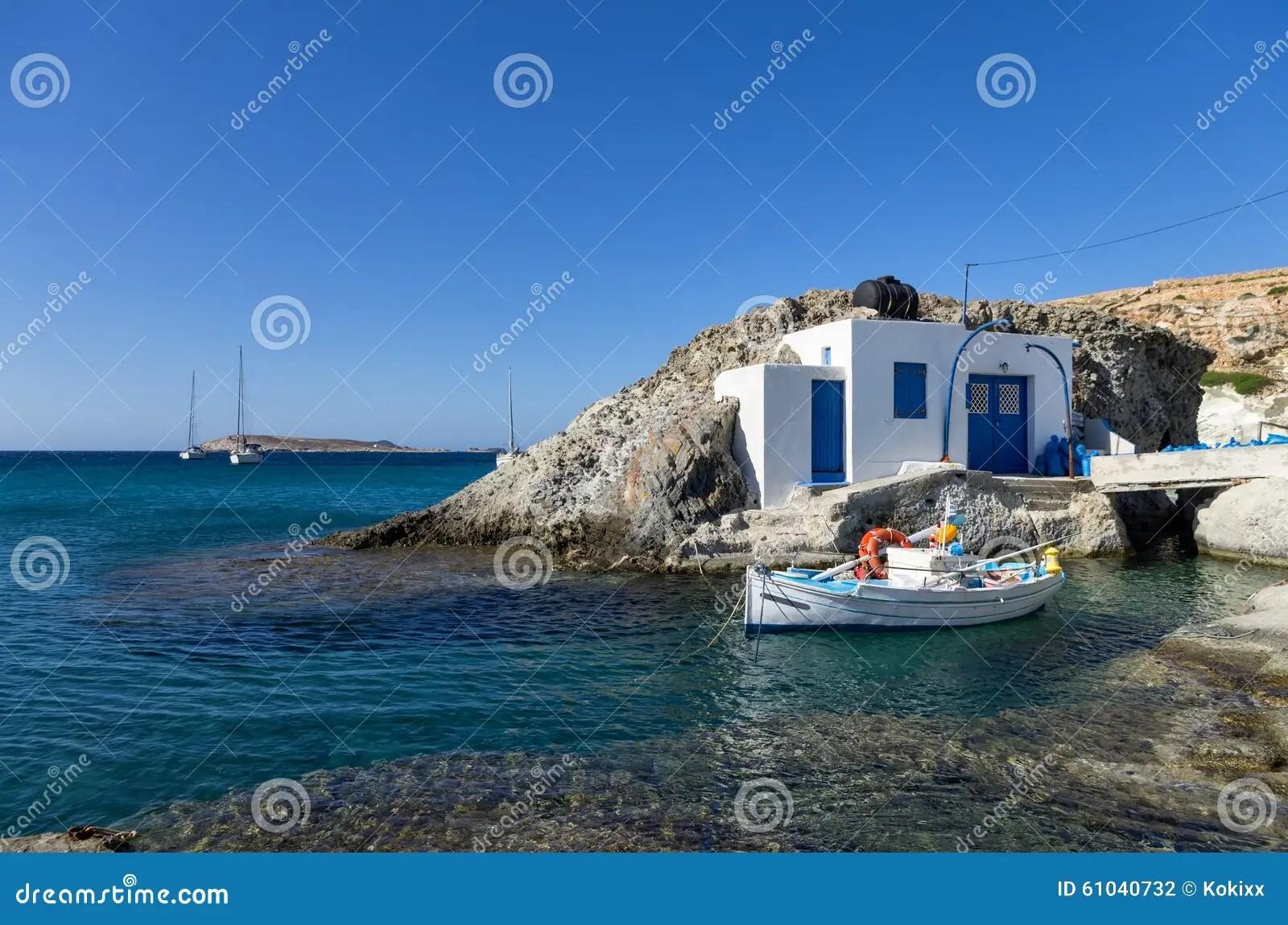 Little Fisherman S House In Kimolos Island Cyclades Greece