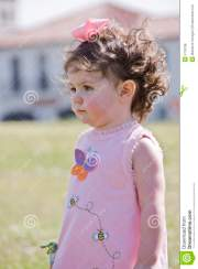 little girl with curly hair royalty