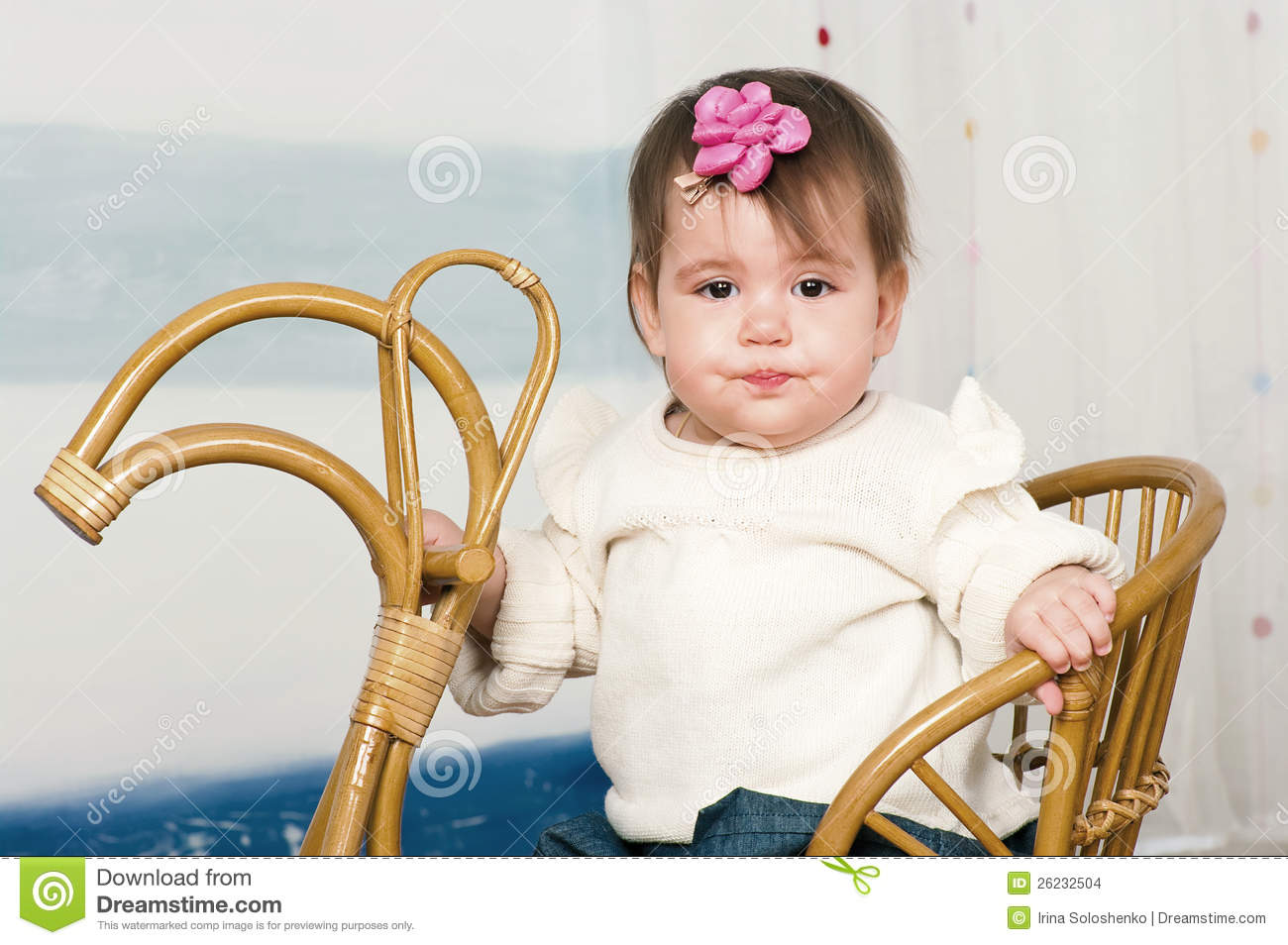 little girl rocking chair best glider australia on a horse stock photo image