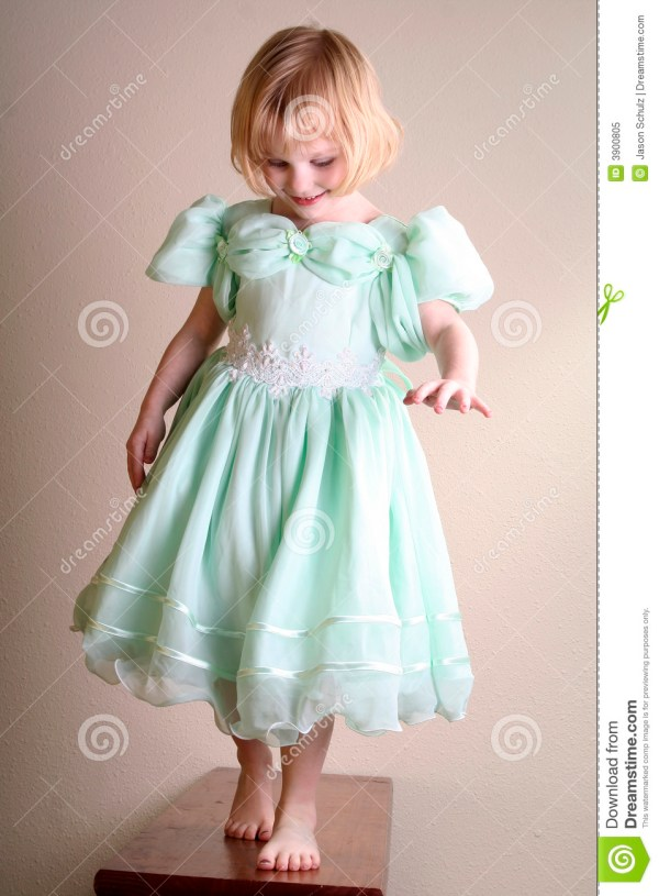 Little Girl Model Pretend Royalty Free Stock