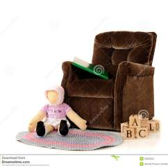 Little Girl Chairs Retro Rocking Chair Uk A 39s Stock Photo Image Of Braided