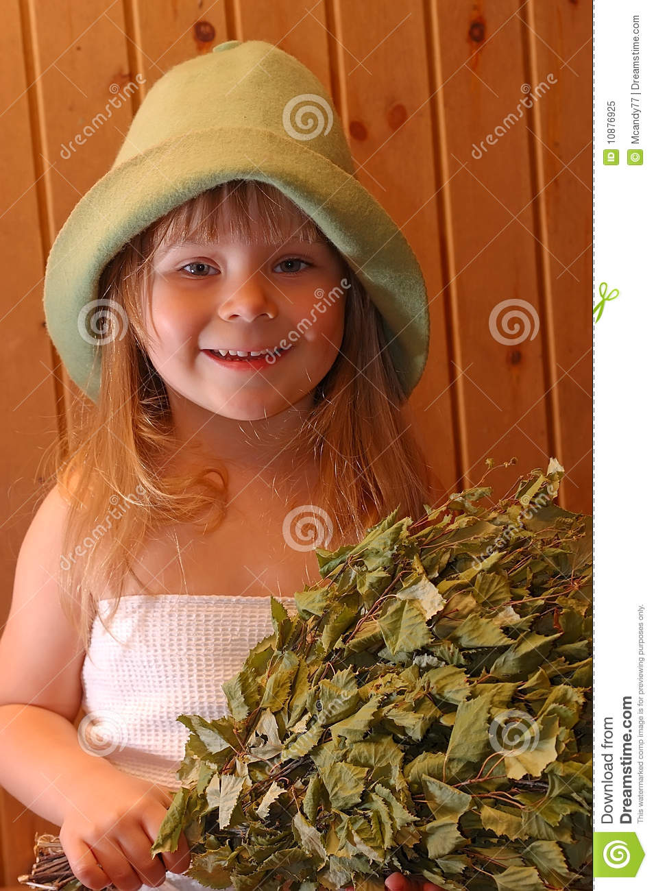 The little girl in a sauna stock image Image of curative
