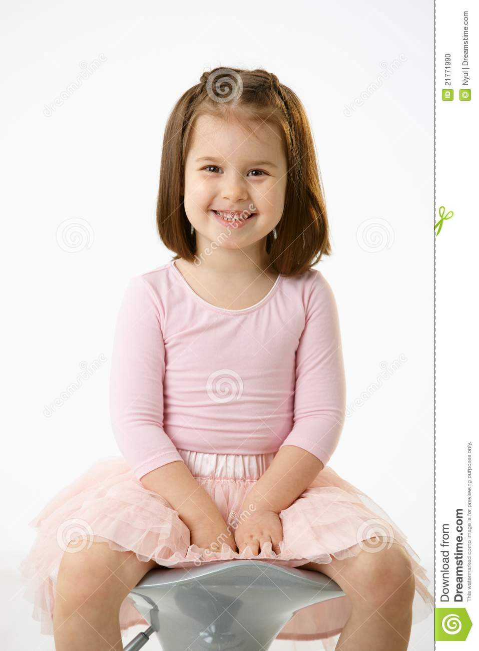 little girl chairs desk chair back pain sitting on stock photo 21771990 megapixl
