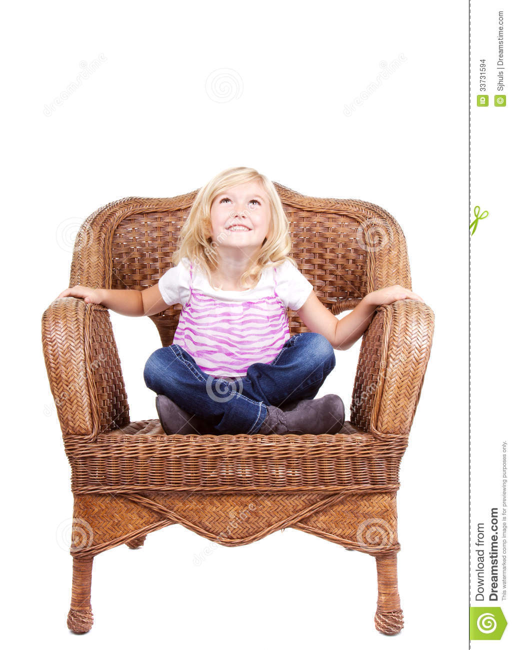 little girls chairs office chair qoo10 girl sitting on a stock images image 33731594