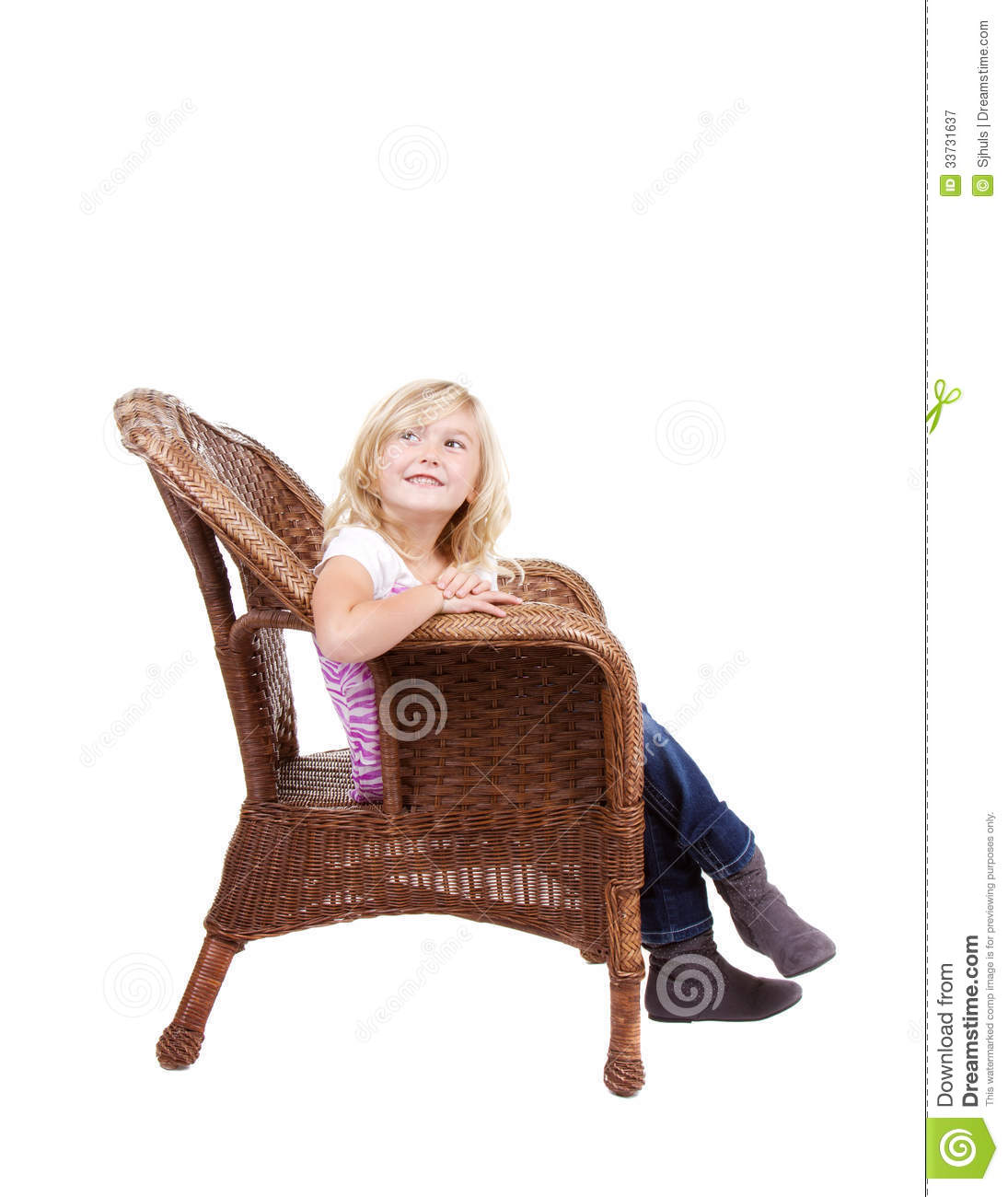 little girls chairs wedding chair cover girl sitting on a royalty free stock