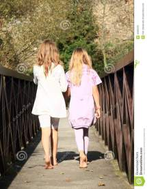 Little Girls Bridge Stock Of Sister