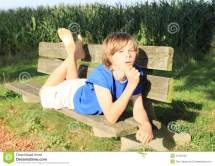 Little Kid - Boy Bench Stock Of