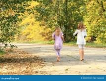 Little Kids - Girls Walking Barefoot Stock